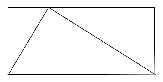 triangle in a rectangle