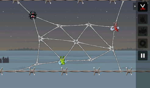 A screenshot from Greedy Spiders.