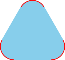 A convex set with extremal points in red. Image credit Wikipedia.