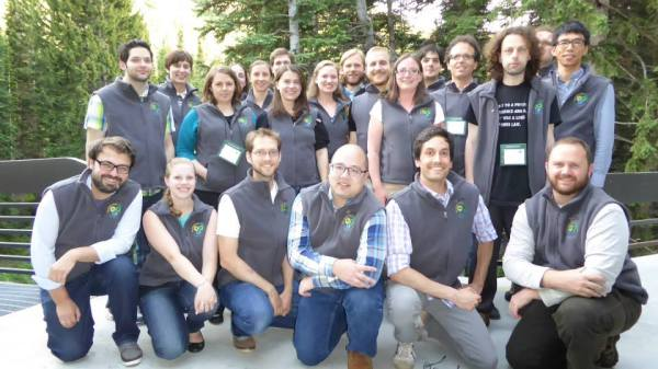 The network science group (you can see me peeking out from the back).